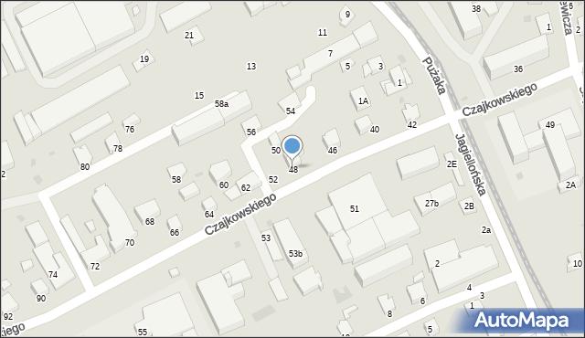 Krosno, Czajkowskiego Feliksa, 48, mapa Krosna