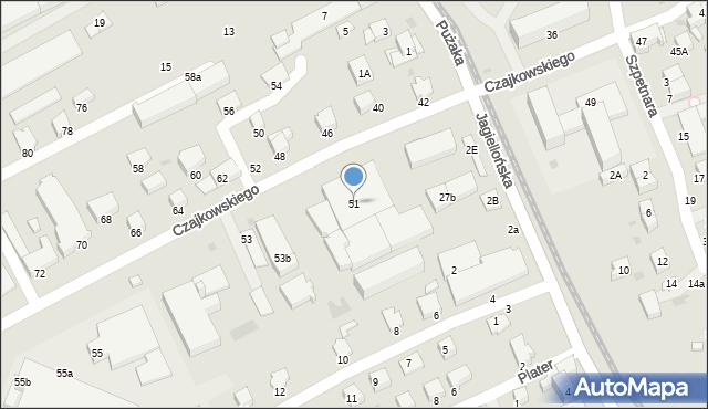 Krosno, Czajkowskiego Feliksa, 51, mapa Krosna