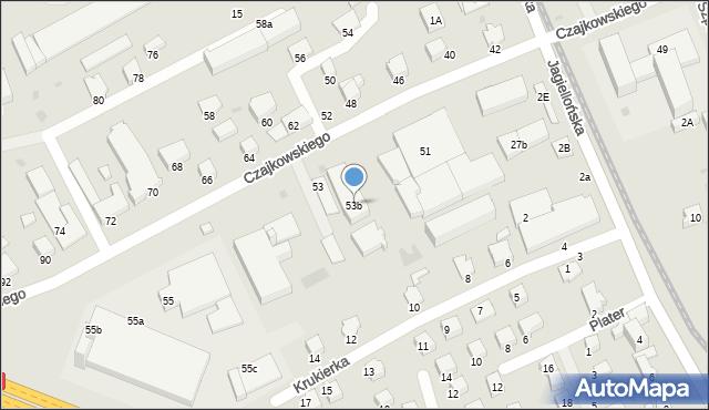 Krosno, Czajkowskiego Feliksa, 53b, mapa Krosna