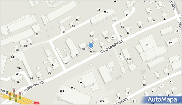 Krosno, Czajkowskiego Feliksa, 66, mapa Krosna