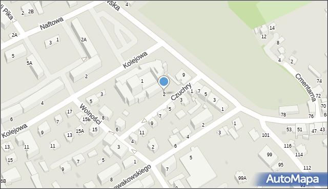 Krosno, Czuchry Józefa, 2, mapa Krosna