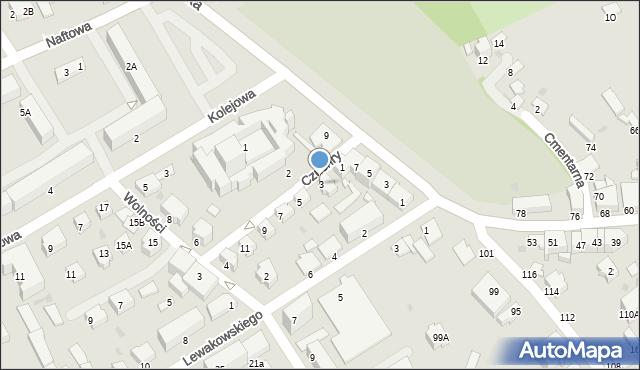 Krosno, Czuchry Józefa, 3, mapa Krosna