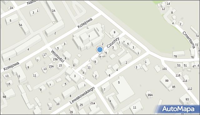 Krosno, Czuchry Józefa, 7, mapa Krosna