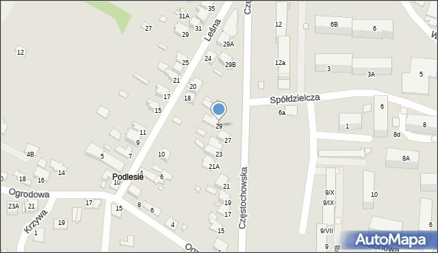 Łazy, Częstochowska, 29, mapa Łazy