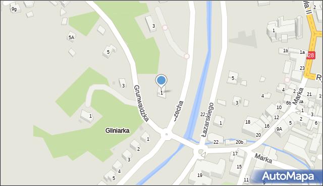 Limanowa, Czecha Bronisława, 1, mapa Limanowa