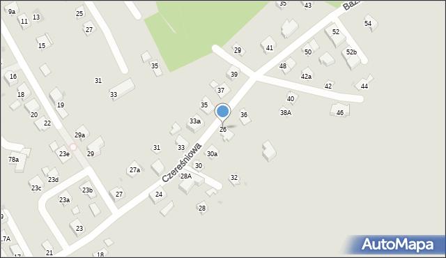 Mikołów, Czereśniowa, 26, mapa Mikołów