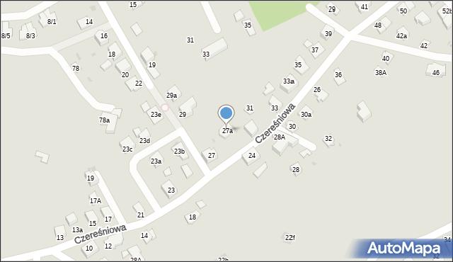 Mikołów, Czereśniowa, 27a, mapa Mikołów