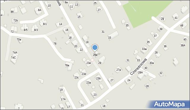 Mikołów, Czereśniowa, 29a, mapa Mikołów