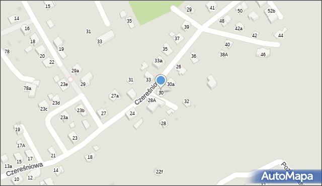 Mikołów, Czereśniowa, 30, mapa Mikołów
