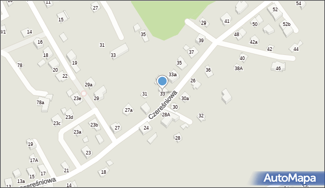 Mikołów, Czereśniowa, 33, mapa Mikołów