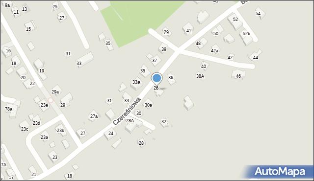 Mikołów, Czereśniowa, 34, mapa Mikołów