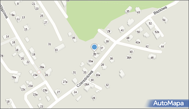 Mikołów, Czereśniowa, 35, mapa Mikołów