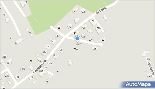 Mikołów, Czereśniowa, 40, mapa Mikołów