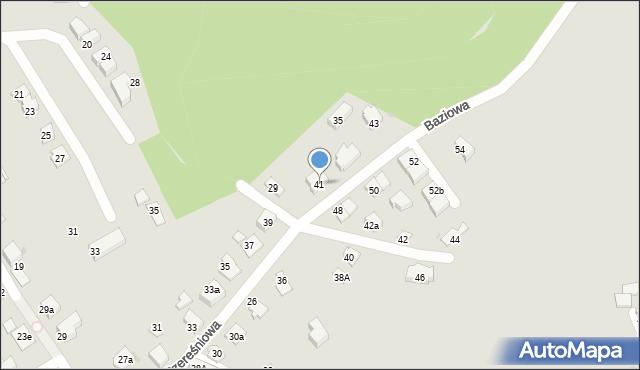 Mikołów, Czereśniowa, 41, mapa Mikołów