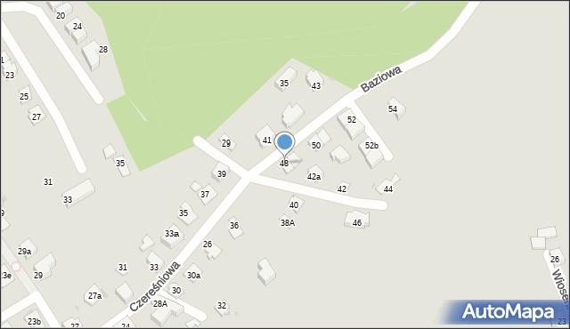 Mikołów, Czereśniowa, 48, mapa Mikołów