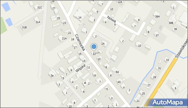 Piątnica Poduchowna, Czarnocka, 12, mapa Piątnica Poduchowna
