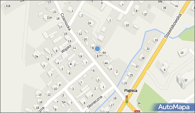 Piątnica Poduchowna, Czarnocka, 6, mapa Piątnica Poduchowna