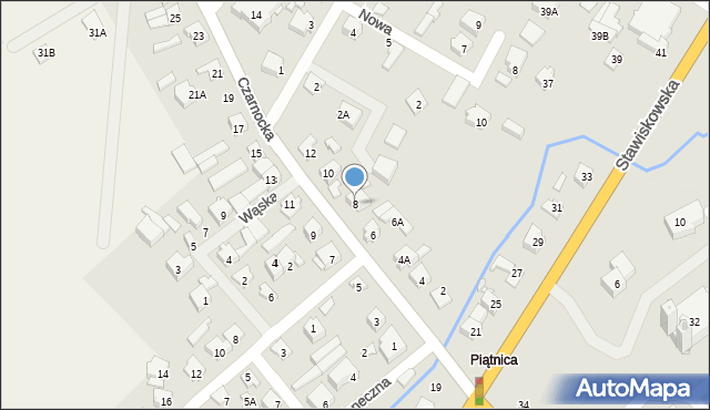 Piątnica Poduchowna, Czarnocka, 8, mapa Piątnica Poduchowna