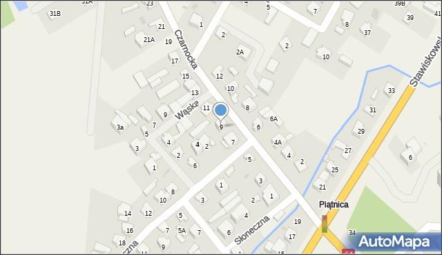 Piątnica Poduchowna, Czarnocka, 9, mapa Piątnica Poduchowna