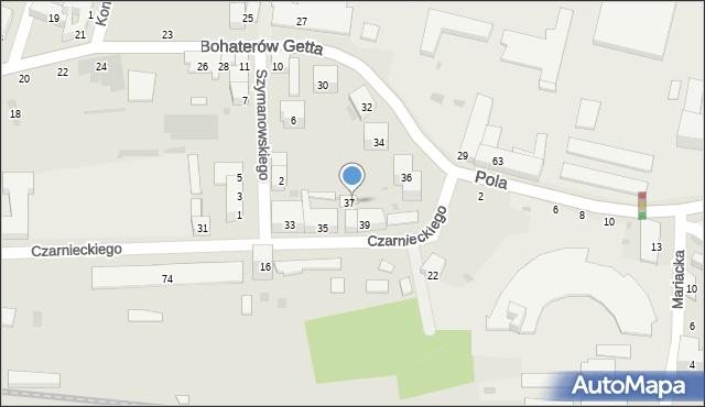 Przemyśl, Czarnieckiego Stefana, hetm., 37A, mapa Przemyśla