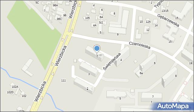 Radom, Czarnoleska, 2, mapa Radomia