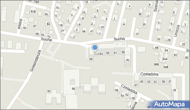 Sosnowiec, Czeladzka, 51, mapa Sosnowca