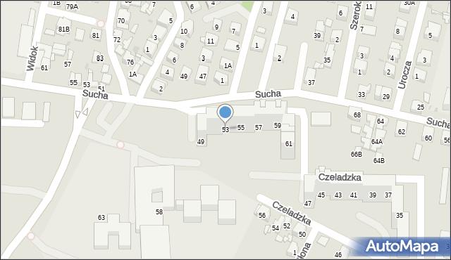 Sosnowiec, Czeladzka, 53, mapa Sosnowca