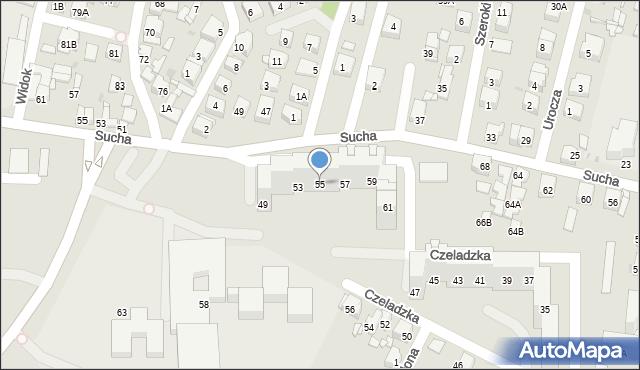 Sosnowiec, Czeladzka, 55, mapa Sosnowca