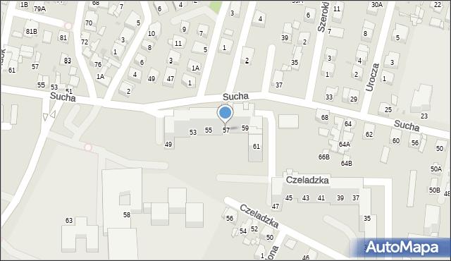 Sosnowiec, Czeladzka, 57, mapa Sosnowca
