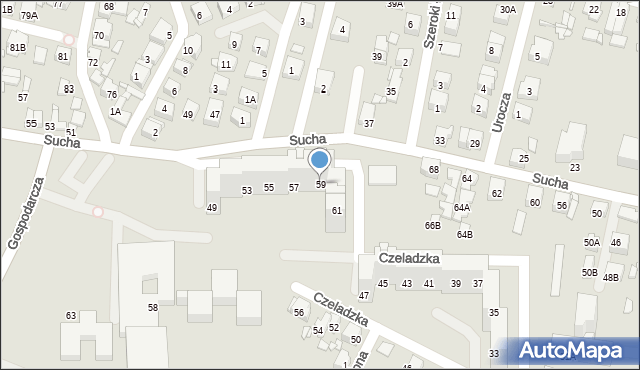 Sosnowiec, Czeladzka, 59, mapa Sosnowca