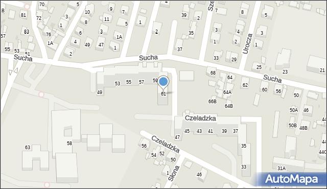 Sosnowiec, Czeladzka, 61, mapa Sosnowca