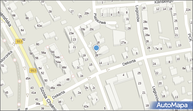 Toruń, Czarlińskiego Leona, 16, mapa Torunia