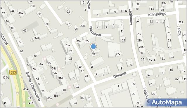Toruń, Czarlińskiego Leona, 18, mapa Torunia