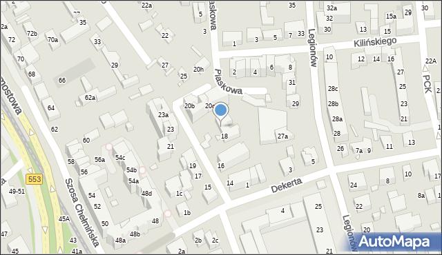 Toruń, Czarlińskiego Leona, 20, mapa Torunia