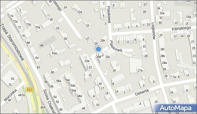 Toruń, Czarlińskiego Leona, 20b, mapa Torunia