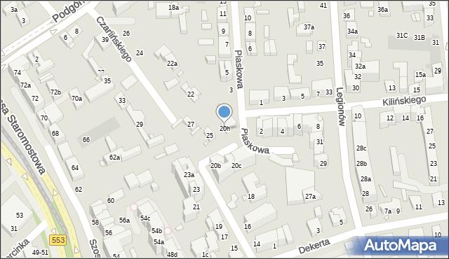 Toruń, Czarlińskiego Leona, 20h, mapa Torunia