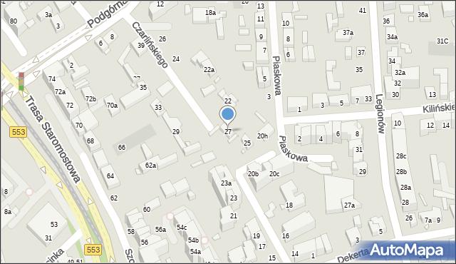 Toruń, Czarlińskiego Leona, 27, mapa Torunia