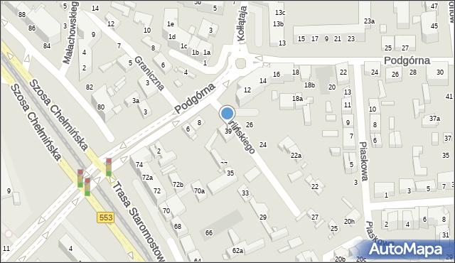 Toruń, Czarlińskiego Leona, 39, mapa Torunia