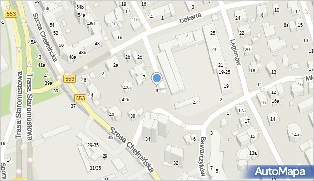 Toruń, Czarlińskiego Leona, 5, mapa Torunia