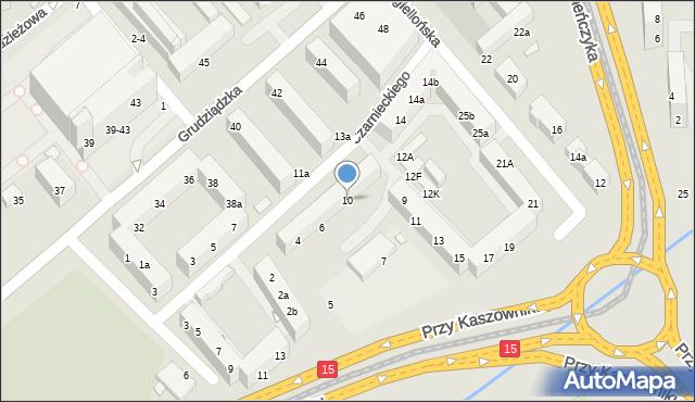 Toruń, Czarnieckiego Stefana, hetm., 10, mapa Torunia