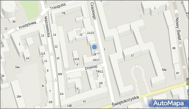 Warszawa, Czackiego Tadeusza, 19, mapa Warszawy