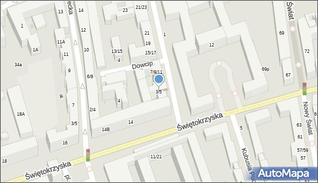 Warszawa, Czackiego Tadeusza, 3/5, mapa Warszawy