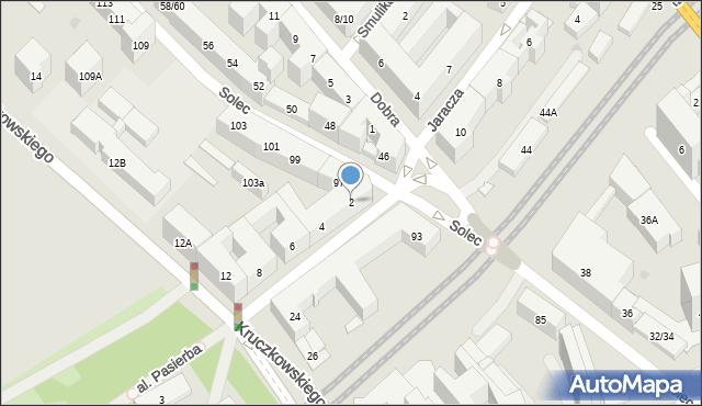 Warszawa, Czerwonego Krzyża, 2, mapa Warszawy