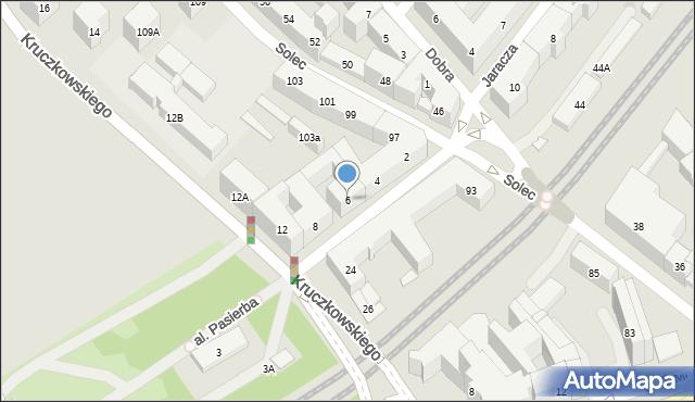 Warszawa, Czerwonego Krzyża, 6, mapa Warszawy