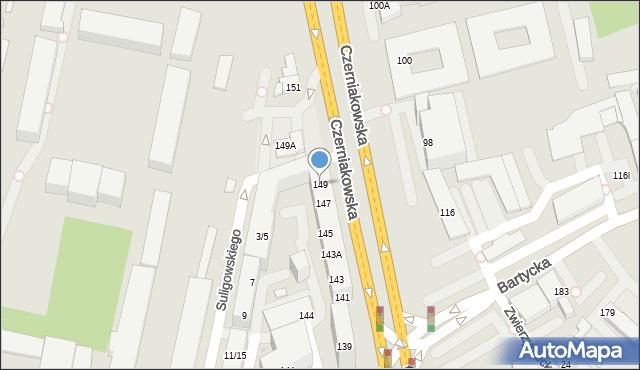 Warszawa, Czerniakowska, 149, mapa Warszawy