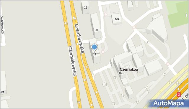 Warszawa, Czerniakowska, 18, mapa Warszawy