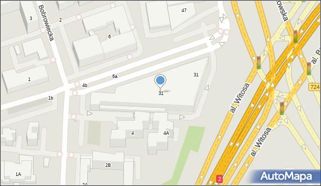 Warszawa, Czerniakowska, 31, mapa Warszawy