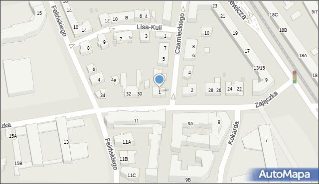 Warszawa, Czarnieckiego Stefana, hetm., 1, mapa Warszawy