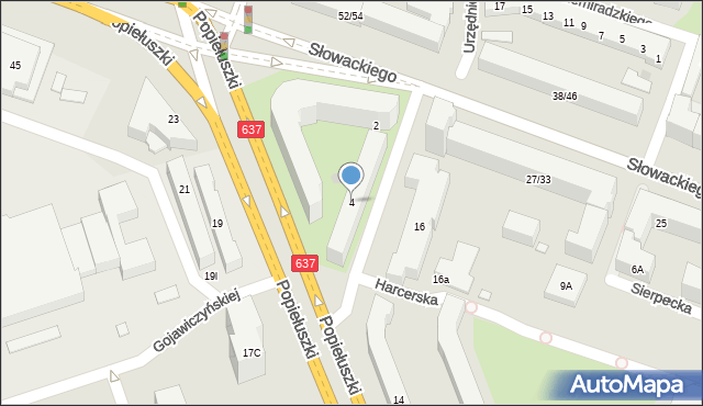 Warszawa, Czaki Hanki, 4, mapa Warszawy