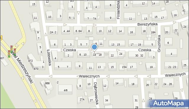 Warszawa, Czeska, 14, mapa Warszawy